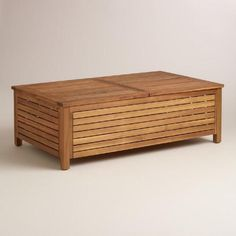 One of my favorite discoveries at WorldMarket.com: Wood Praiano Outdoor Storage Coffee Table