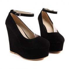 $20.06 Laconic Party Women's Wedge Shoes With Solid Color Suede and Platform Design