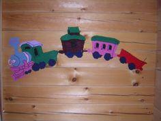 FREE SHIPPING Train Wall Decoration 4 pc by HolidayTimeDecor, $38.25