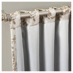 Kamila Woven Floral Blackout Lined Rod Pocket/Back-Tab Curtain Panel Cream Sun Zero : Target