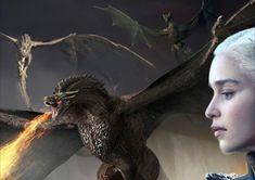Viserion, drogon, rhaegal and daenerys Dany's Dragons, Game Of Thrones Dragons, Game Of Thrones Houses, Game Of Thrones Art, Mother Of Dragons, Mark Tattoo, Game Of Trones, Daenerys Targaryen, Game Of Thrones