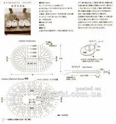 белые ажурные пинетки - схема