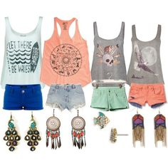Summer wardrobe. shorts & tanks