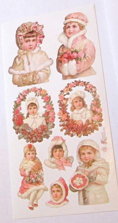 Items similar to Wonderful new Victorian Violette cute Winter Christmas children in fur coats flowers stickers for scrapbooking envelopes card making crafts on Etsy Winter Rose, Retro Floral, Winter Christmas, Decoupage, Card Making, Victorian, Scrapbook, Stickers, Handmade Gifts