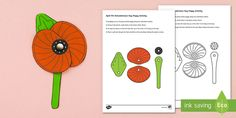This engaging Remembrance Day Poppy Paper Craft activity / activities is a great way of introducing students to Remembrance Day and world military history. What Is Remembrance Day, Make Your Own Poppy, Poppy Wreath, Poppy Craft, International Symbols, Funky Fingers, Armistice Day, Anzac Day, Craft Activities