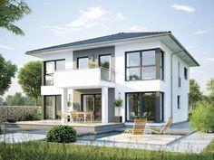 Haus CityLife 600 • Ausbauhaus von WeberHaus • Energieeffizientes Fertighaus mit offener Küche, optionalem Erkeranbau und Zeltdach.