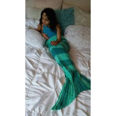 Aqua Green Teal Ombre Mermaid Blanket Mermaid Tail Blanket Fish Tail... ($50) ❤ liked on Polyvore featuring home, bed & bath, bedding, blankets, blankets & throws, grey, home & living, grey throw, green throw blanket and teal throw blanket