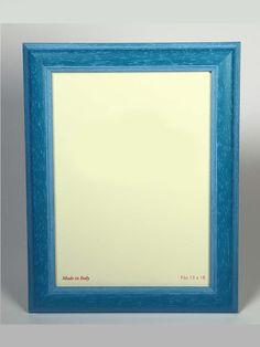#portafoto in legno con cornice colore #azzurro. Artigianato Italiano.