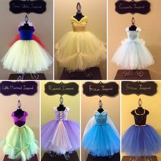 Adult Princess Inspired Tutu Dresses - various lengths - Snow White, Cinderella, Rapunzel, Little Mermaid, Frozen, Beauty and the Beast by TheGoldTutuShop on Etsy https://www.etsy.com/uk/listing/252877264/adult-princess-inspired-tutu-dresses