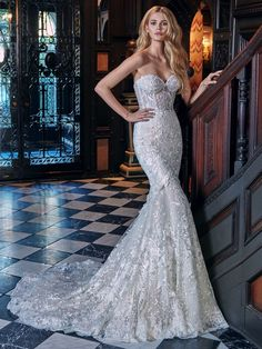 Galia Lahav #Lidya wedding gown extravagant and unique as its own. The desire for a wedding dress and complete perfection is all in one. #GaliaLahav #LaceWeddingDress #GLCouture