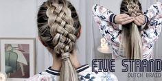 Beautiful Five Strand Dutch Braid Tutorial - How to DIY!