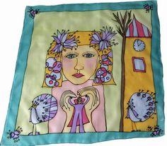 Šatka -obrázok do detskej izby na zarámovanie Silk Painting, Princess Zelda, Fictional Characters, Art, Art Background, Kunst, Performing Arts, Fantasy Characters, Art Education Resources