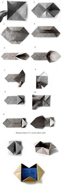 Pop Up Envelope Instructions
