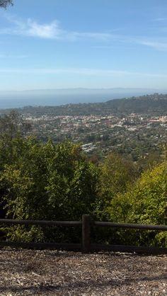 Overlooking Santa Barbara.