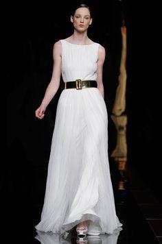 Boat Neck Vintage White Floor Length Wedding Dress #wedding_dress_sale_uk #affordable_wedding_dress #wedding_dresses_tea_length