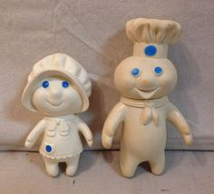 Dough boy is 7 tall and girl is 5 3 oz. If you desire any other conveyance you may request it. Vintage Toys 1960s, Retro Toys, Vintage Dolls, Vintage Stuff, Vintage Baby Toys, Vintage Avon, Vintage Tins, My Childhood Memories, Childhood Toys