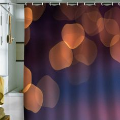 Bird Wanna Whistle 'Lights' Shower Curtain