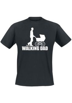 "Classica T-Shirt uomo nera ""The Walking Dad""."