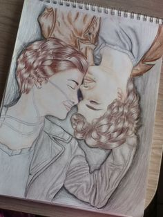 A drawing of The fault in our stars poster that I drew:)