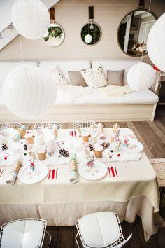 Yılbaşı için masa dekorasyonu :)