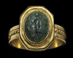 A ROMAN PLASMA RING STONE                                                                                                                                                                       CIRCA 2ND CENTURY A.D.