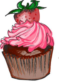 cupcake sketched in snote