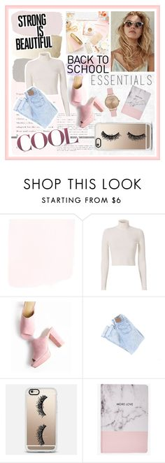 """Back to school"" by sarabarlaup on Polyvore featuring A.L.C., Casetify, Boohoo and Topshop"