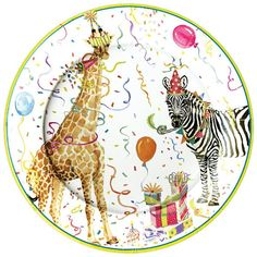 Fancy Party Animals Plates/ Wild Animals Party Plates/ Zoo Birthday/ Circus Party Plates/ Vintage Circus/ Jungle Party Plates/ Wild One