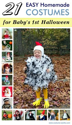 Some of these are too funny. My favs are he old man and gnome | 21 Easy Homemade Costumes for Baby's First Halloween Easy Homemade Halloween Costumes, Halloween Costumes Online, Halloween Costume Contest, Baby Costumes, Halloween Costumes For Kids, Halloween Diy, Costume Ideas, Halloween 2018, Babys 1st Halloween