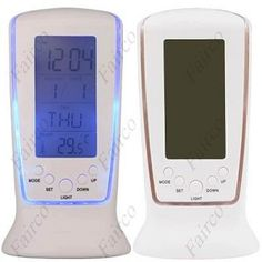 Digital LCD Music Alarm Tower Clock + Calendar + Thermometer with Blue Backlight Battery Powered. ECA LISTING BY Eshopping, Kajang, Malaysia. Sale ends June 14th!