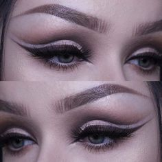All neutral, loving browns and neutral shades lately. @nyxcosmetics Lid Lingerie Matte Eye Tint in 'Revel' @katvondbeauty Shade + Light Eye Palette shades 'Samael' and 'Solas' and Saint & Sinner Palette shade 'Crucifix' and 'Amen' @nyxcosmetics_uk Gel Liner in 'Dark Brown' @rouge.and.rogue Luminara Lashes @eyeko All-in-One Brow Game Changer in 'Medium' - - - #bold #makeup #katvondbeauty #kvd #shadeandlight #nyxcosmetics #eyeko #rougeandrogue #lashes #eyebrows #cutcrease #neutrals #dewy…
