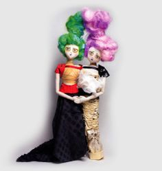 The Kouklitas. A line of fashion rag dolls conceived by New York City based artist and illustrator Andrew Yang. It's very Tim Burton-esque don't you think? Doll Party, Girls Characters, Tim Burton, Miniature Dolls, Diy Projects To Try, Art Studios, Harajuku, Fashion Photography, Spring Summer