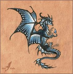Dragon of Northern Lights - tattoo design by AlviaAlcedo on DeviantArt Magical Creatures, Fantasy Creatures, Fantasy Kunst, Fantasy Art, Northern Lights Tattoo, Water Dragon, Dragon Ball, Dragon Artwork, Dragon Pictures