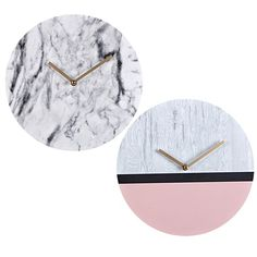 Marbled Wall Clocks Assorted x Wall Clocks, Christmas Presents, Marble, Copper, Spaces, Red, Ideas, Home Decor, Xmas Gifts