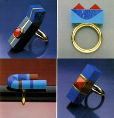 Have you Seen This Forgotten PoMo Jewelry by 1980s Architects?,Jewelry designed by Arata Isozaki. Image © Rizzoli New York Courtesy of Sight Unseen