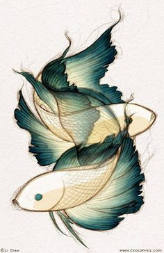 Fish. looks cool for a foot tattoo