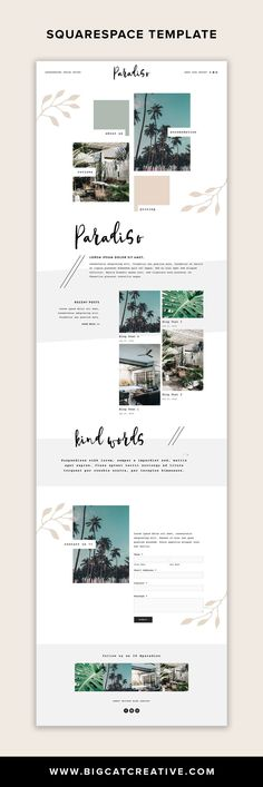 Paradiso is a mix of modern and classic styles with a funky, tropical vibe. This template is perfect Design Web, Design Sites, Funky Design, Web Design Trends, Logo Design, Website Design Inspiration, Website Design Layout, Blog Layout, Website Designs