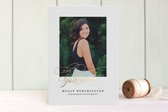 Poetic Foil-Pressed Graduation Announcements by Fine and Dandy Paperie at minted.com