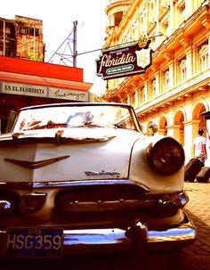 El Floridita was Hemingway's favorite bar in La Habana, where the mojito was invented. Havana Cuba. #Caribbean #Cuba