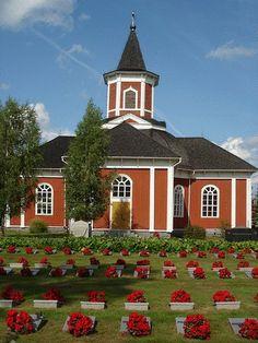 Kortesjärven kirkko. Grave Monuments, Church Building, Graveyards, Cathedrals, Family History, Buildings, Interiors, Mansions, Landscape