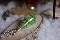Halskette Naturliebhaber Moos von Le petit bouton auf DaWanda.com