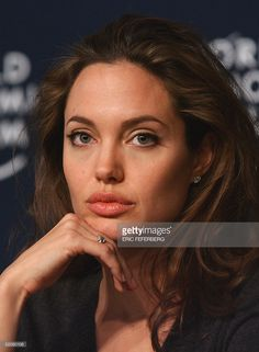 US movie star Angelina Jolie, Goodwill Ambassador of the United Nations High Commissioner for refugees (UNHCR) listens during a press conference at the World Economic Forum in Davos 29 January Angelina Jolie, This Is Us Movie, Cinema Tv, Star Girl, Brad Pitt, Hollywood Actresses, Celebrity Crush, American Actress, Movie Stars