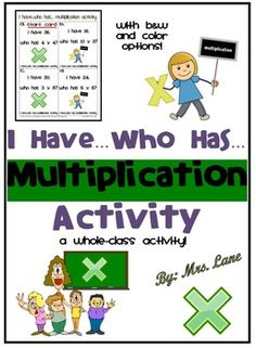 Do your elementary students need to practice multiplication? They will absolutely love this fun whole-class activity while practicing multiplication.  ================================================  *THIS PRODUCT INCLUDES:  Teacher Directions Activity Cards Answer Key  *Includes black and white AND color printing options!  ================================================  *19 pages total.  *NOTE: THE SAMPLE FILE MAY NOT CONTAIN ALL OF THE PAGES THAT YOU WILL RECEIVE IN THE FINAL PURCHASED…
