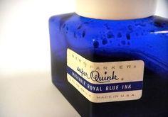 Vintage Parker Cobalt Blue Diamond Ink by MyVintageVarietyShop, $11.00