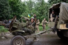 Ukrainian soldiers now move from Kramatorsk to Donetsk