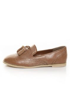 Miss Me Jones 1 Tan Tassel Flat Loafers