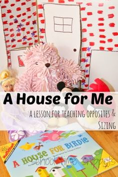A House for Birdie Storybook Activity - A fun DIY preschool activity to learn about opposties and sizing.