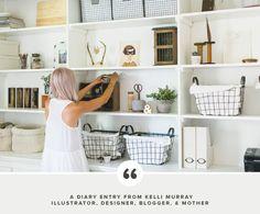 Creative Diaries   Kelli Murray   from Breanna Rose. shelving