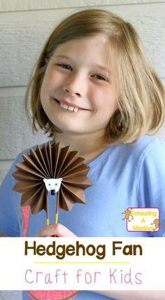 Summer Crafts for Kids: Hedgehog Craft Fan