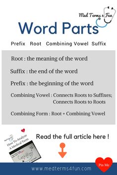 35 best med terms 4 fun images on pinterest medical terminology medical terminology word parts fandeluxe Gallery